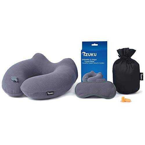 Cuscino da viaggio gonfiabile tappi per orecchie e mascherina for Migliori tappi per dormire