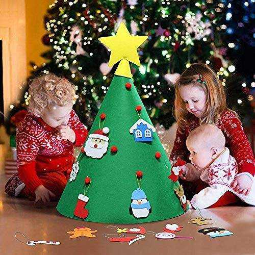 Albero natale per bambini - decorazioni feltro 1